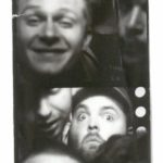 GETTING COSY IN A CHICAGO PHOTO BOOTH.