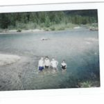 AFTER TWO LONG DAYS IN THE VAN WE SWAM IN A VERY COLD LAKE IN IDAHO.