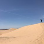 Stopped by some sand dunes in Arizona. Still learning how to dress for the weather.