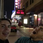 Practicing our photography skills in front of The Pageant theatre in St. Louis. It's not going well.