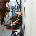 This sax player is probably the most talented busker I've ever seen. I sat and listened to him for about half an hour before taking these. Incredible.